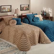 bedspread promenade cotton chenille oversized bedspreads king size lightweight grande bedspread for queen blue coverlet