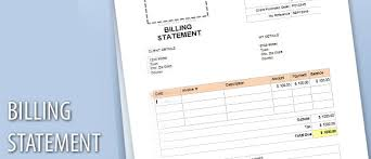 Template For Billing Statement Elim Carpentersdaughter Co