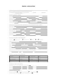 Rental Credit Application Rental Form Application Elim Carpentersdaughter Co