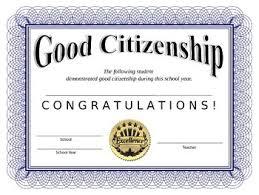 Good Citizenship Award Citizenship Good Citizen Award