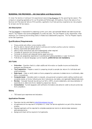 Tax Preparer Job Description For Resume Tax Accountant Resume