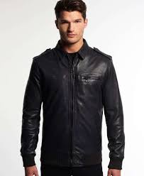 superdry leading flight er leather jacket ink m59713 mens leather jackets superdry america superdry coats ireland new collection