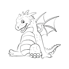 Cute Baby Dragon Coloring Pages Cute Mythical Creatures Coloring