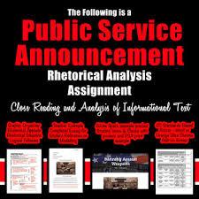 Psa Example Public Service Announcement Rhetorical Analysis Close