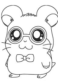 Cute Hamster Coloring Pages Arenda Stroy