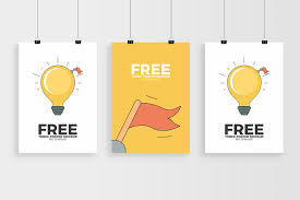 Poster Mockup Free Three Posters Mockup Free Psd Template Mockup World Hq