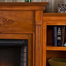 1 tennyson electric fireplace with bookcases