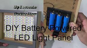 diy battery powered portable led light panel mehs episode 54 you