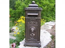 cast aluminum mailbox. Wonderful Aluminum Cast Aluminum Mailbox Stand Inside