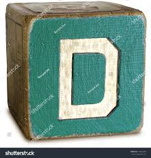 stock photo photograph of wooden block letter d