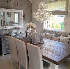 pictures of dining room decorating ideas: stunning rustic dining room with touches of glam absolutely stunning chandelier