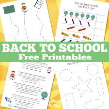 Simple Back to School Printables - Itsy Bitsy Fun