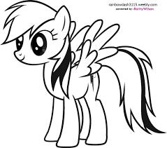 my little pony drawing rainbow dash