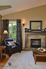 ideas to update a fireplace with stone and painted mantel walls benjamin moore northampton putty