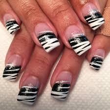 Nail Art Designs On White Nails 27 White And Black Nail Art Designs Ideas Design Trends
