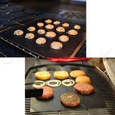 Lot of 2 Mats Easy BBQ Grill Mat Bake NonStick Grilling Mats As