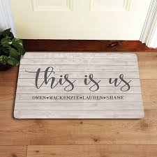 Image Pottery Barn This Is Us Doormat Personal Creations Personalized Doormats Welcome Mats Personal Creations