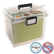 office file boxes. Iris Weathertight Portable File Box With Handle Office File Boxes
