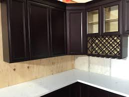 Kitchen Cabinet Espresso Color Colored Recessed Panel Kitchen Cabinets