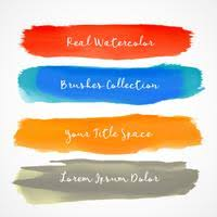 Watercolor Brushes Free Vector Art 7113 Free Downloads