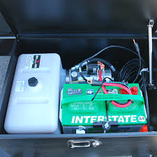 dump trailer heavy duty low profile dump advantage series aluminum lockable battery pump box