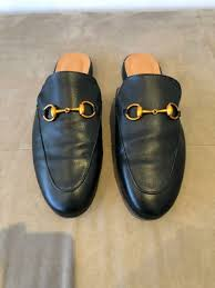 men s gucci leather slides size 43 9 new