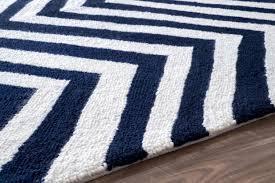 nuloom hand hooked chevron area rug in navy blue rugs beyond s orange flokati overdyed sisal