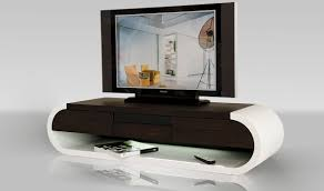 modrest tv modern tv stand with light in white  brown oak