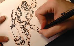 ic book video tutorials drawing robot