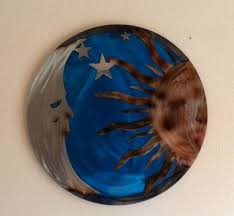 metal moon wall art ideas sun and moon metal wall art colors together with celestial hanging