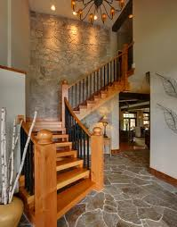 View in gallery Traditional wooden staircase disappearing into the wood-paneled  wall View ...