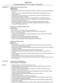 Training Consultant Resume Training Consultant Resume Samples Velvet Jobs 6