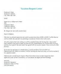 Letter Format For Vacation Leave Vacation Leave Letter Sample Efestudios Co