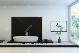 Modern Black And White Bathroom Stock Photo, Picture And Royalty ...