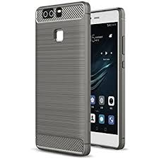 huawei p9 grey. huawei p9 case, landee soft tpu shock absorption and carbon fiber design silicone case for grey