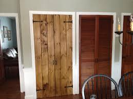 rustic pine pantry doors