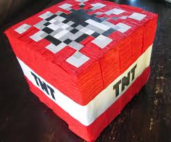 Minecraft Party Decorations Life Of A Vertically Challenged Mom Minecraft Birthday Party