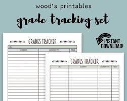 Grade Tracking Pdf Printable Binder Printables Grade Book Homework Organizer Homework Log School Planner Grade Log Grade Book