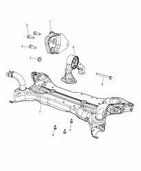 2017 jeep patriot engine mounting rear thumbnail 3 4