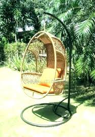 wicker hanging chair stand egg with wonderful outdoor garden swing h