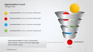 Funnel Powerpoint Template Free Opportunities Funnel Ppt Diagram Slide Ocean