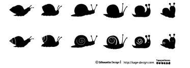 カタツムリ 商用フリーで使える影絵素材サイト シルエットデザイン