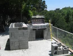 cinder block outdoor kitchen plans home design ideas