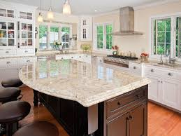 Colonial Cream Granite Kitchen Beautiful Kitchen With Colonial Cream Granite Countertops And Dark