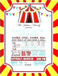 Carnival Party Invitations Packed With Also Red Chevron Birthday