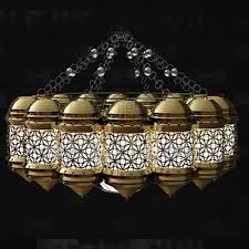golden white hollow combination chandelier