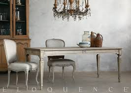 reion gustavian dining table in oak driftwood weathered pale natural wood eloquence inc 78 l x 36 d