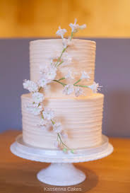 Buttercream 2 Tier Wedding Cake With Cherry Blossoms Cake By