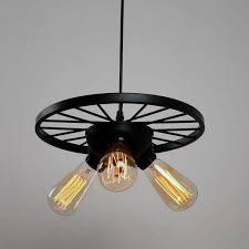 pendant lighting black. black small wheel vintage industrial pendant lighting with 3 lights u2013 unitarylighting