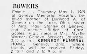 Obituary for Fannie L. BOWERS - Newspapers.com